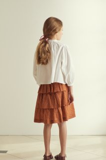 <img class='new_mark_img1' src='https://img.shop-pro.jp/img/new/icons14.gif' style='border:none;display:inline;margin:0px;padding:0px;width:auto;' />CARAMEL  FLOUNDER SKIRT /  RUST DOT 3y 4y 6y