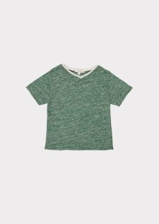 <img class='new_mark_img1' src='https://img.shop-pro.jp/img/new/icons14.gif' style='border:none;display:inline;margin:0px;padding:0px;width:auto;' />CARAMEL  SHARK T-SHIRT /  GREEN MELANGE 3y 4y 6y