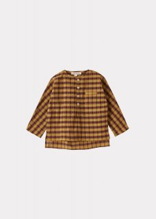 <img class='new_mark_img1' src='https://img.shop-pro.jp/img/new/icons14.gif' style='border:none;display:inline;margin:0px;padding:0px;width:auto;' />CARAMEL  DRAGONET BABY SHIRT /  MUSTARD CHECK  12m 18m 2y