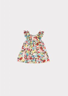 <img class='new_mark_img1' src='https://img.shop-pro.jp/img/new/icons14.gif' style='border:none;display:inline;margin:0px;padding:0px;width:auto;' />CARAMEL  MULLOWAY BABY DRESS /  PAINTED FLOWER 12m 18m 2y