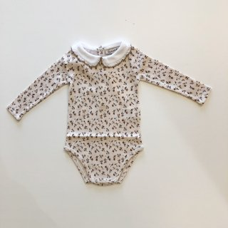 <img class='new_mark_img1' src='https://img.shop-pro.jp/img/new/icons14.gif' style='border:none;display:inline;margin:0px;padding:0px;width:auto;' />CARAMEL  QUILLFISH GIFTING ROMPER  /  BROWN DITSY FLORAL 6m