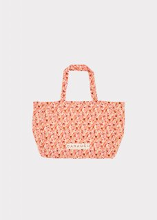 <img class='new_mark_img1' src='https://img.shop-pro.jp/img/new/icons14.gif' style='border:none;display:inline;margin:0px;padding:0px;width:auto;' /> CARAMEL  SHELL TOTE BAG / BRIGHT PINK FLORAL