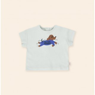 <img class='new_mark_img1' src='https://img.shop-pro.jp/img/new/icons14.gif' style='border:none;display:inline;margin:0px;padding:0px;width:auto;' />TINYCOTTONS   SWIMMER BABY RELAXED TEE   light blue grey/iris blue 9m last one!