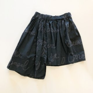 <img class='new_mark_img1' src='https://img.shop-pro.jp/img/new/icons20.gif' style='border:none;display:inline;margin:0px;padding:0px;width:auto;' />UNIONINI   embroidery asymmetry skirt / black 30%OFF 4-6y last one!