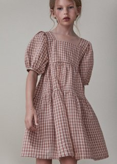 <img class='new_mark_img1' src='https://img.shop-pro.jp/img/new/icons20.gif' style='border:none;display:inline;margin:0px;padding:0px;width:auto;' />the new society   ARLETTE DRESS   / CARAMEL CHECK 30%OFF  8y last one!
