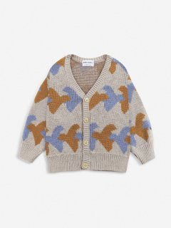 <img class='new_mark_img1' src='https://img.shop-pro.jp/img/new/icons14.gif' style='border:none;display:inline;margin:0px;padding:0px;width:auto;' />BOBO CHOSES  KIDS  Birds All Over knitted cardigan