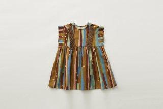 <img class='new_mark_img1' src='https://img.shop-pro.jp/img/new/icons14.gif' style='border:none;display:inline;margin:0px;padding:0px;width:auto;' />eLfin Folk  Crambon stripe dress /  brown
