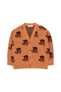 <img class='new_mark_img1' src='https://img.shop-pro.jp/img/new/icons14.gif' style='border:none;display:inline;margin:0px;padding:0px;width:auto;' />TINYCOTTONS   DOG CARDIGAN    true brown/dark copper 3y last one!