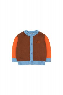 <img class='new_mark_img1' src='https://img.shop-pro.jp/img/new/icons14.gif' style='border:none;display:inline;margin:0px;padding:0px;width:auto;' />TINYCOTTONS   COLOR BLOCK BABY CARDIGAN  dark copper/red  18m last one!