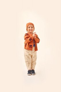 <img class='new_mark_img1' src='https://img.shop-pro.jp/img/new/icons14.gif' style='border:none;display:inline;margin:0px;padding:0px;width:auto;' />TINYCOTTONS   DOG BABY CARDIGAN  true brown/dark copper