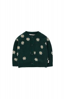 <img class='new_mark_img1' src='https://img.shop-pro.jp/img/new/icons14.gif' style='border:none;display:inline;margin:0px;padding:0px;width:auto;' />TINYCOTTONS   DAISIES BABY CARDIGAN  dark green/light cream 12m last one!