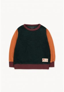 <img class='new_mark_img1' src='https://img.shop-pro.jp/img/new/icons14.gif' style='border:none;display:inline;margin:0px;padding:0px;width:auto;' />TINYCOTTONS   COLOR BLOCK SWEATSHIRT ink blue/true brown