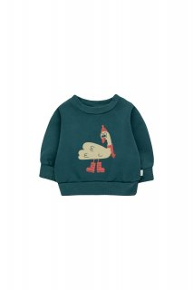 <img class='new_mark_img1' src='https://img.shop-pro.jp/img/new/icons14.gif' style='border:none;display:inline;margin:0px;padding:0px;width:auto;' />TINYCOTTONS   SWAN EXPLORER BABY SWEATSHIRT  stormy blue/cappu