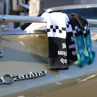 SURFSKATECAMPxCACTUS CLUB good session socks