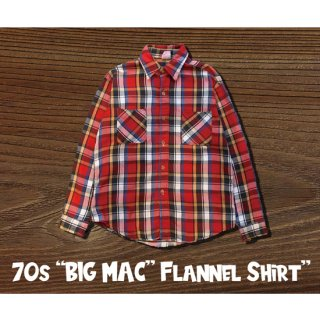70s BIC MAC FLANNEL SHIRT<img class='new_mark_img2' src='https://img.shop-pro.jp/img/new/icons5.gif' style='border:none;display:inline;margin:0px;padding:0px;width:auto;' />