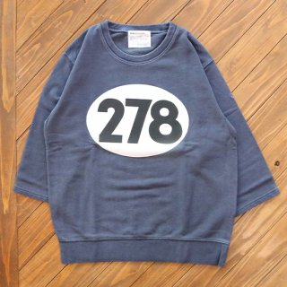 NUMBER 278 MID-SLEEVE SWEAT<img class='new_mark_img2' src='https://img.shop-pro.jp/img/new/icons5.gif' style='border:none;display:inline;margin:0px;padding:0px;width:auto;' />