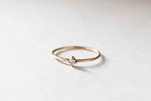 Twig ring + diamond