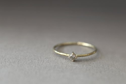 Twig ring + olive diamond