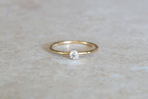 Twig + 0.1ct diamond ring / K18