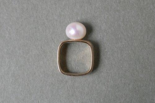 Syami ring + Pearl / K18