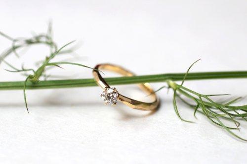Rough cut ring + 0.3ct diamond