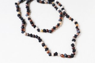 Square onyx & agate necklace