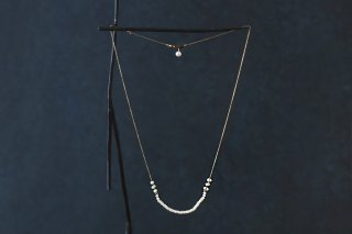 Button pearl chain necklace