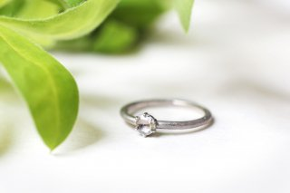 Norme ring + 3.5mm rosecut diamond  / Pt900