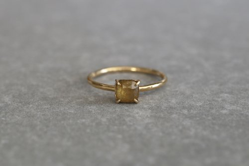 Yellow fancy color diamond ring