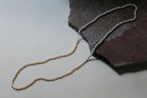 Gray & white bicolor pearl necklace