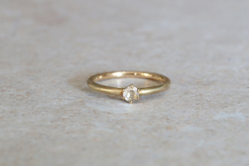 Norme ring + 3.5mm rosecut diamond / K18