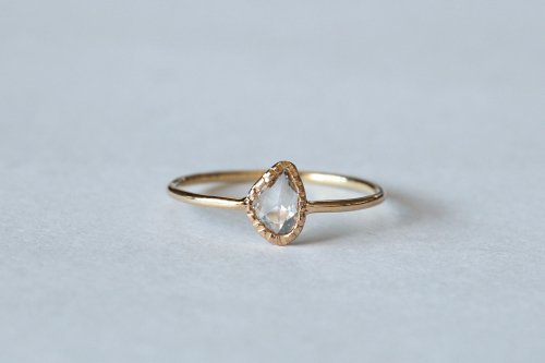 Twig rosecut diamond ring