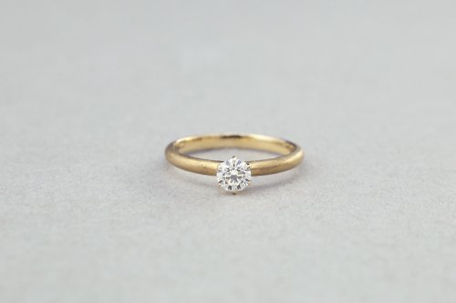 Norme ring + 0.3ct diamond / K18