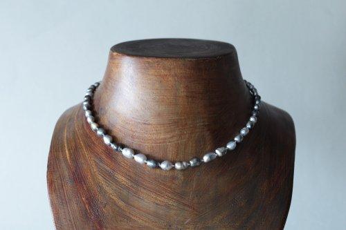 Tahiti keshi pearl multi color necklace
