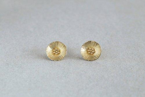 Flower earrings / K18