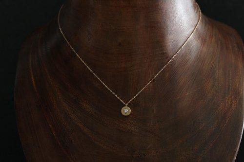 0.1ct Light brown diamond necklace / K18