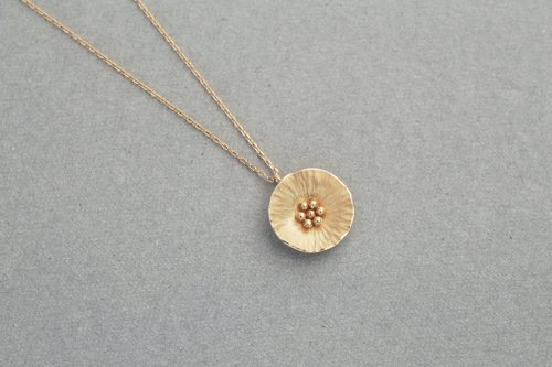 Flower necklace / K18