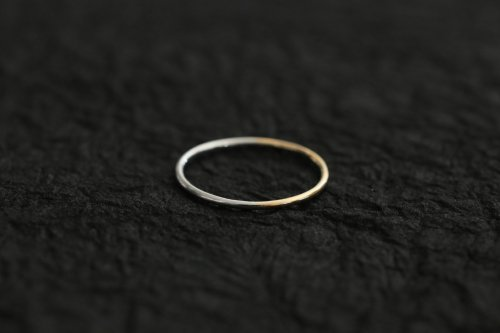 Half gold ring 1.0mm
