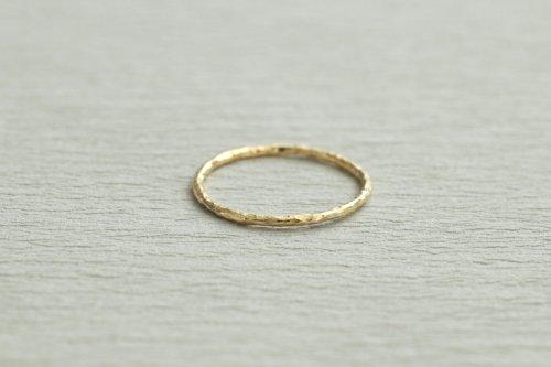 Twig ring 1.0mm / K18