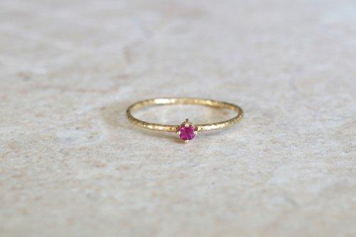 Twig ring + ruby