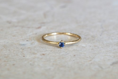 Twig ring + Sapphire