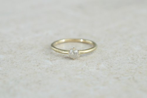 Norme ring + rosecut diamond / ice