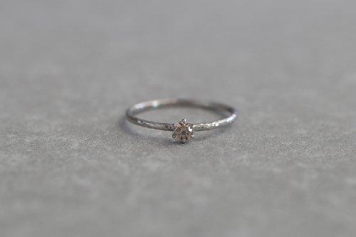 Twig ring + Light brown diamond / Pt900