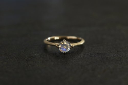 Germ royal blue moonstone ring