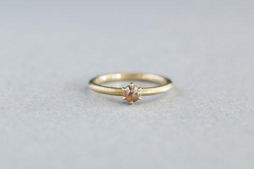 Norme ring + rosecut diamond ( orange )