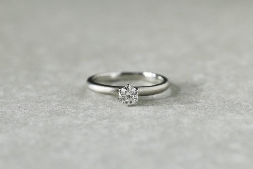 Norme ring +0.25ct diamond / Pt900