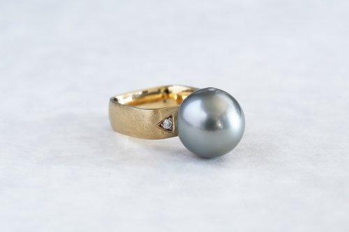Syami ring + Tahiti Pearl / K18