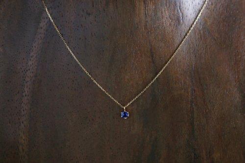 0.167ct blue sapphire necklace