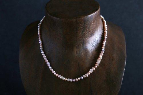 Multi color baroque pearl necklace 40cm