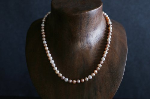 Multi color pearl necklace 45cm